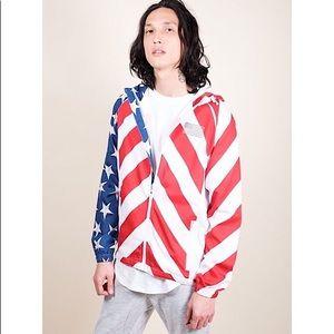 NWT AMERICAN FLAG WINDBREAKER